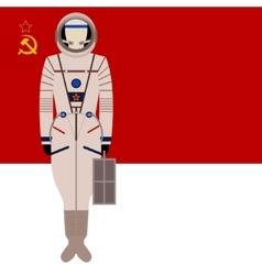 Soviet space suit Sokol KV-2 vector image