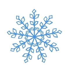 Blue snowflake vector