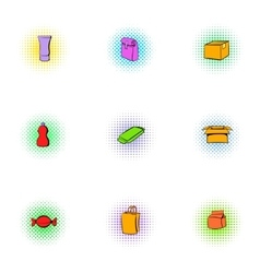 Pack icons set pop-art style vector