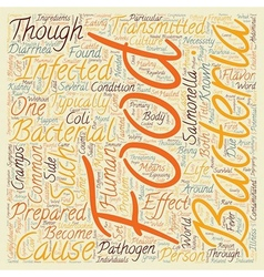 Phage In The Food text background wordcloud vector image