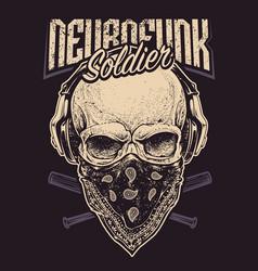 Neurofunk soldier vector