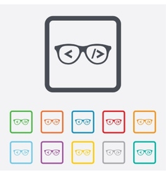 Coder sign icon programmer symbol vector