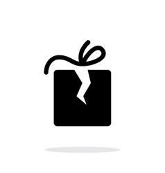 Damaged box icon on white background vector image