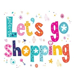 Lets go shopping vector