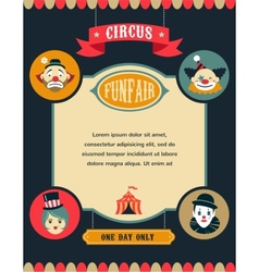 Vintage circus poster background with carnival vector