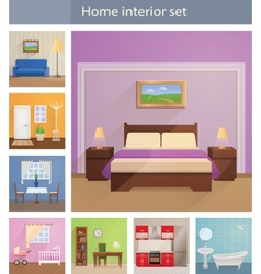 Home interiors set vector