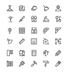 Construction line icons 1 vector