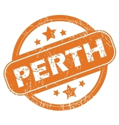 Perth round stamp vector