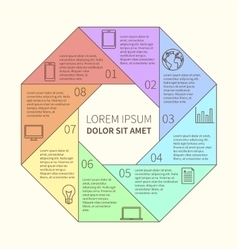 Polygonal infographic diagram vector