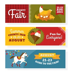 County fair vintage banners vector