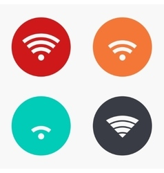 Modern wi fi colorful icons set vector