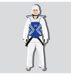 Taekwondo fighter vector