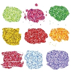 Set of glitter colorful blots vector