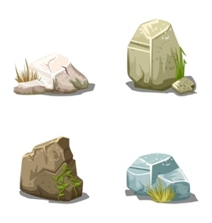 Set of cartoon stones vector