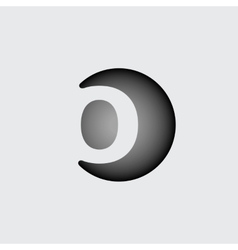 Letter o made of wide white stripes vector