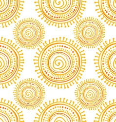 Hand drawn ethnic sun vector
