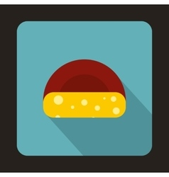 Dutch cheese icon flat style vector