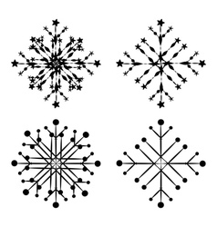 Abstract snowflakes vector image vector image