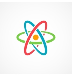 Atom icon sign vector