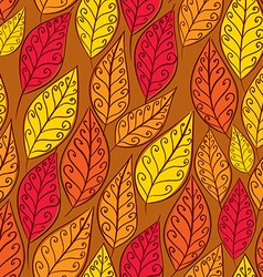 Autumn leaves seamless pattern floral seamless vector image vector image