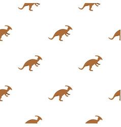 Brown parazavrolofus dinosaur pattern seamless vector