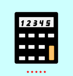 calculator it is icon vector image