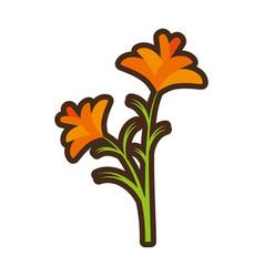 Cartoon freesia flower spring natural vector
