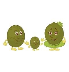 Character kiwi fruit vector image
