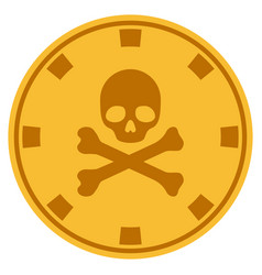 death gold casino chip vector image