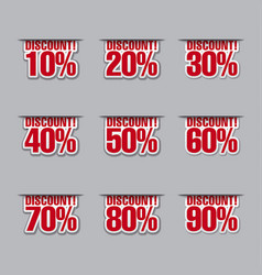 Discount labels with percents vector