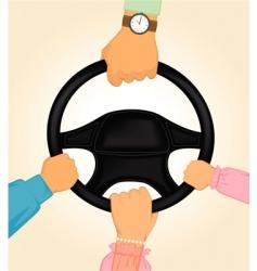 Driving a car vector