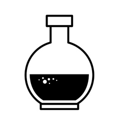 Florence flask chemical bottle vector