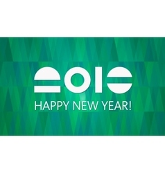 Green 2016 New Year Banner vector image