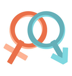 Male and female gender signs icon isolated vector