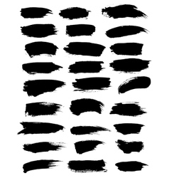Paint or marker strokes blobs dabs set vector