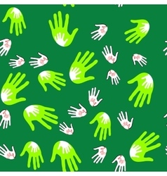 Palms hands seamles pattern 660 vector image