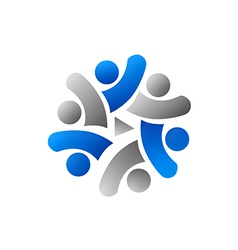 People teamwork group social media logo vector