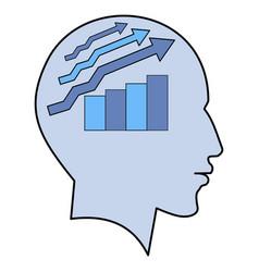 potential idea human man head graph brain concept vector image