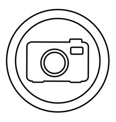 Round symbol digital camera icon vector