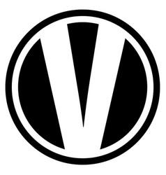 Round v logo vector