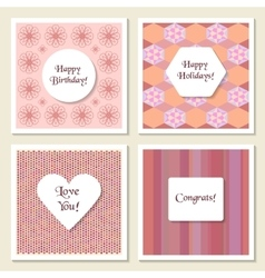 Set of delicate universal cards geometric and vector