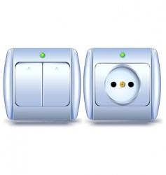switch and socket vector image