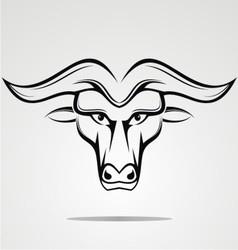 Tribal buffalo head vector