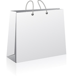 White shopping bag vector image vector image