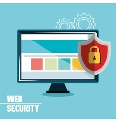 Technology data digital security design vector