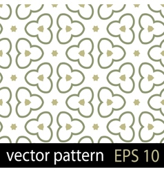 Abstract geometric floral pattern vector image