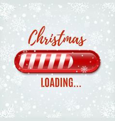 Christmas loading bar on winter background vector
