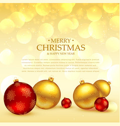 Christmas festival greeting with balls decoration vector