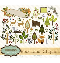 Woodland clipart vector