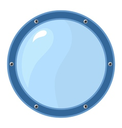 Porthole on white vector